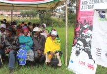 Older people assemble in Dagoretti, Nairobi to mark the World Elder Abuse Awareness Day marked on June 20, 2018.