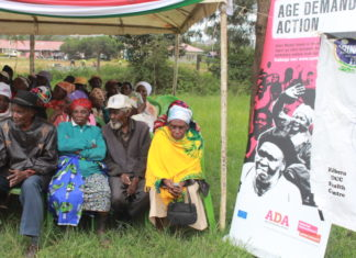 Older people assemble in Dagoretti, Nairobi to mark the World Elder Abuse Awareness Day marked on June 20, 2018.