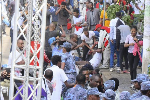 Ethiopian attack on rally addressed by Prime Minister Abiy Ahmed on June 23, 2018 in Addis Ababa