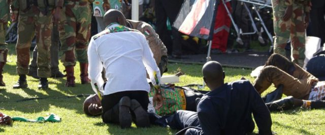 Zimbabwe grenade attack on ZANU-PF leadership at Bulawayo rally on June 23, 2018