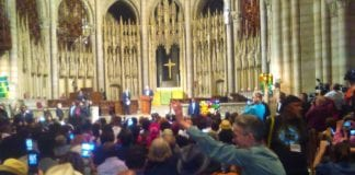 Cuba President Miguel Diaz-Canal Bermudez speaking to over 2,000 people at Riverside Church in New York City on September 26, 2018.