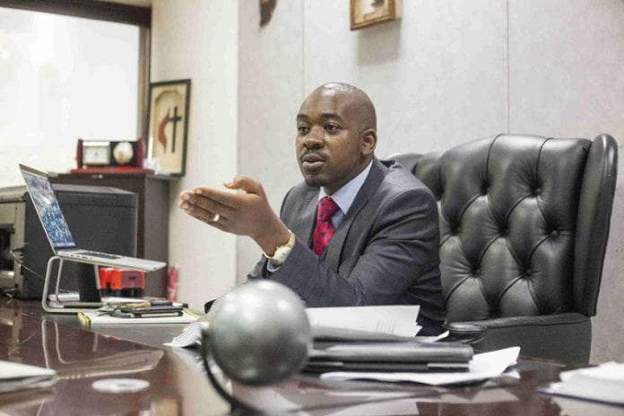 MDC leader Nelson Chamisa. Picture: TIMESLIVE