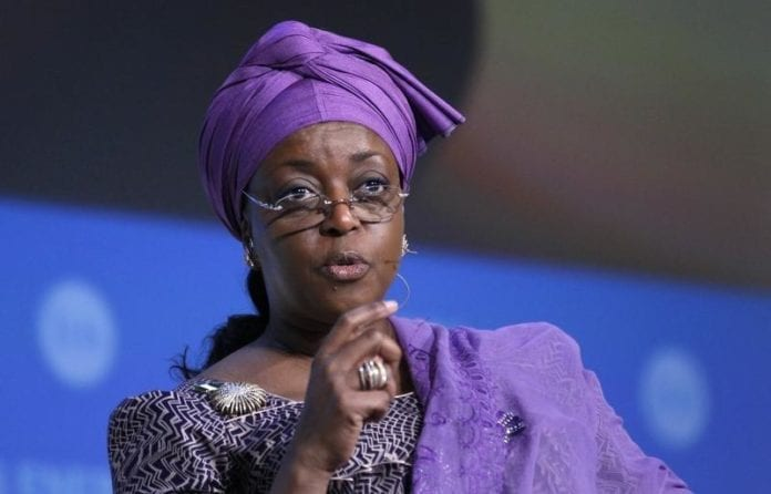 Nigeria's former Petroleum Minister and OPEC's alternate president Diezani Alison-Madueke speaking at the annual IHS CERAWeek conference in Houston, Texas March 4, 2014. REUTERS/Rick Wilking