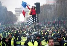 France yellow vest demonstrations during Nov.-Dec. 2018