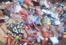 The expired products at the refuse dumping site