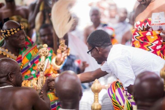 Nana Appiah Mensah and Asantehene Osei Otumfuo II