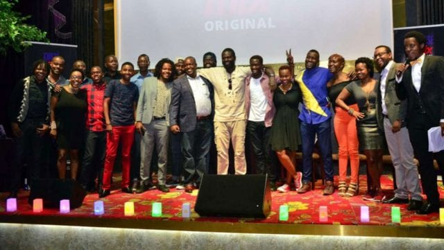 The cast, crew and production team of a Kenya produced original drama series titled 'Nganya'