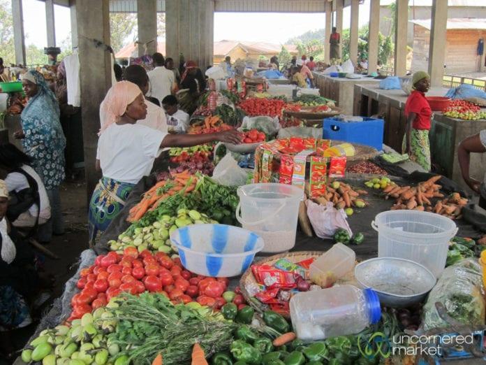 Kibuye food market, Rwanda.