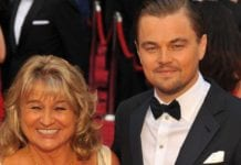 Leonardo Di Caprio and his mother Irmelin. Picture: Bang Showbiz