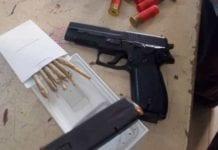 pistol and ammunitions