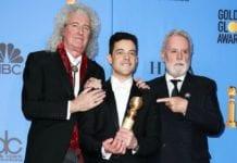 Brian May, Rami Malek and Roger Taylor