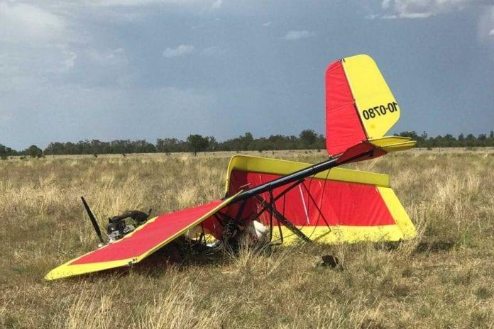 ultralight plane crash