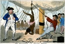 African woman tortured by John Kimber who was acquitted of murder by British courts in 1792
