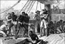 Africans arrive in Jamestown Settlement in August 1619