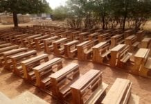 Photo of the desks