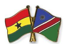 Flag Pins Ghana Namibia