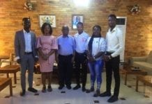 Norman Nortey and his MHWF-UHAS team