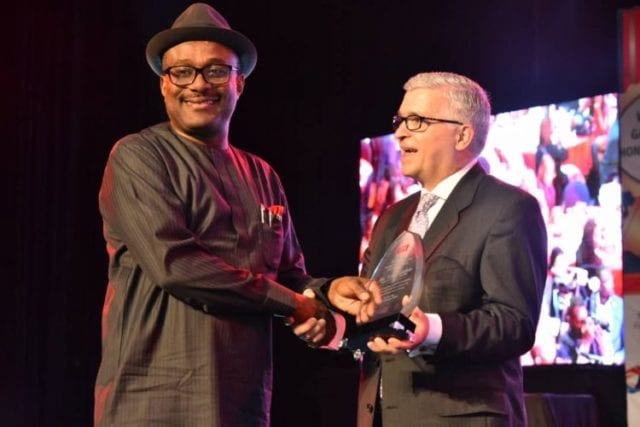 Mr Simbi Wabote, MD Local Content,FIN Award for Excellence