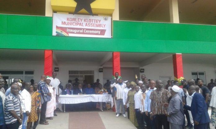 Korley Klottey Municipal Assembly inaugurated