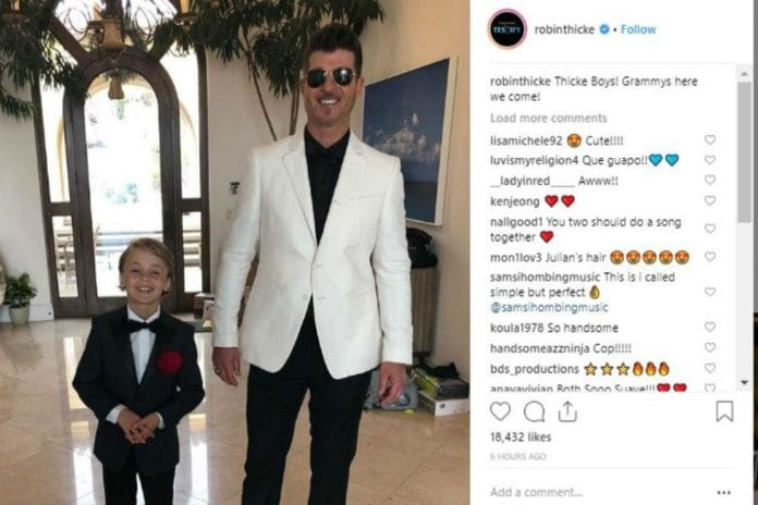 Julian and Robin Thicke (c) Instagram