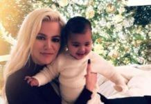 Khloe Kardashian and her daughter True (c) Instagram