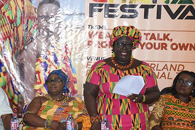 madam janet edna nyame middle addressing participants at the launch photo seth osabukle