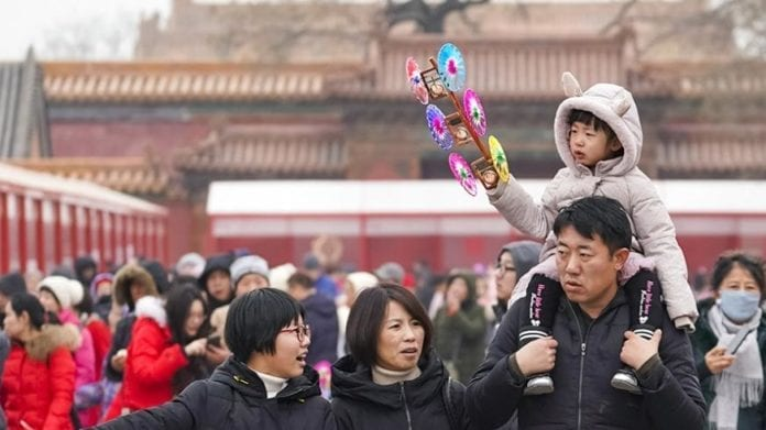 Tourists visit a fair exhibiting Chinese time-honored brands at the Palace Museum in Beijing, capital of China, Feb. 5, 2019, the first day of Chinese Lunar New Year. / Xinhua/Shen Bohan
