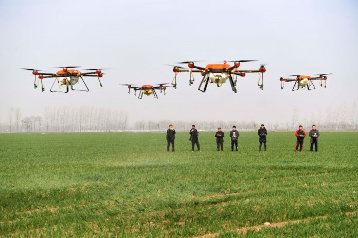 Farmers Use Drones