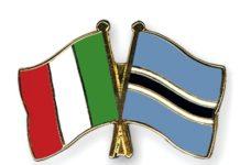 Flag Pins Italy Botswana