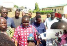 Minister Transport Visit Minister Transport Visit Ekumfi Dunkwa Accident Victims
