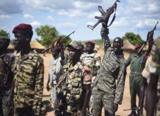 Spla Soldiers Near Juba April