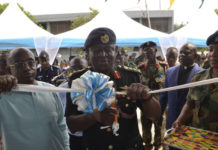 Lt Gen O.B Akwa assisted by Ashanti Regional Minister, Simon Osei-Mensah, formally opened the hall.