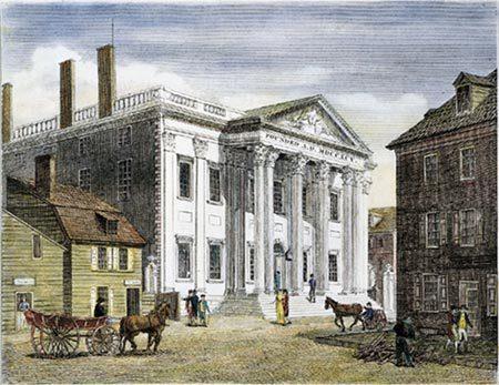 Hamilton's First National Bank (courtesy ushistory.org)