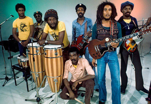 A Section Of Bob Marley The Wailers In A Pose