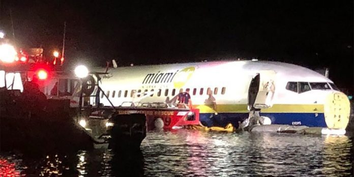 Boeing Plane In River