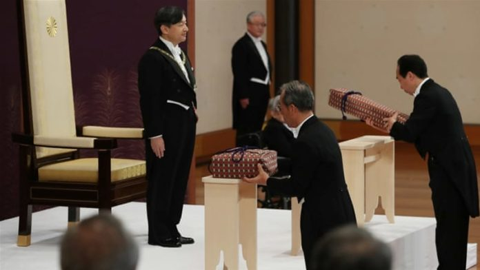 Naruhito faces the delicate balancing act of continuing his father's legacy of bringing the monarchy closer to the people while upholding the centuries-old traditions of the Chrysanthemum Throne. [Japan Pool/Reuters]