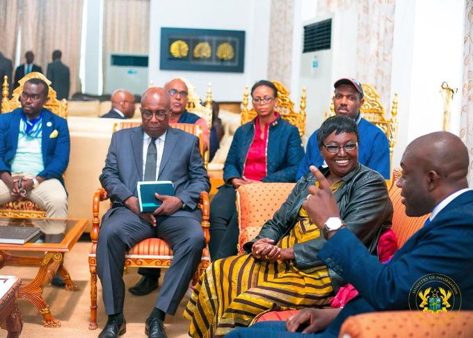 Mr. Oppong Nkrumah with the AU delegation