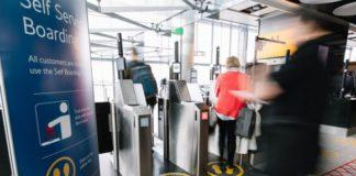 Biometric self-boarding gates - Domestic stands at T5
