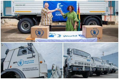 Russian Government hands over trucks and trailers to UN WFP