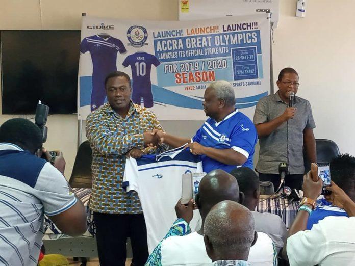 Accra Great Olympics unveil new Strike jerseys