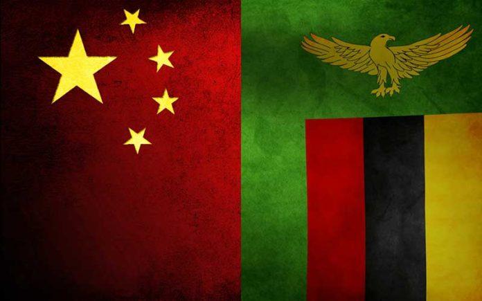 Zambia - China Flag