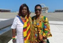 Mama Gee and Mrs Joyce Mahama