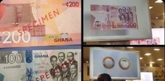 Bank Of Ghana introduces GH¢100, GH¢200 notes and GH¢2 coin