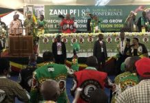 ZANU-PF panel at National People's Conference during Dec. 2019, photo by ZANU-PF