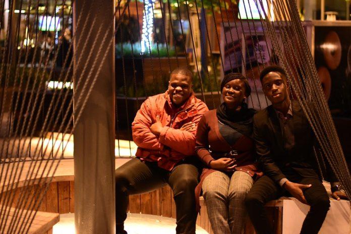 Olufemi Abodunrin, Cheryl Omani-Baah and David Gifat Ampiaw in Capetown.