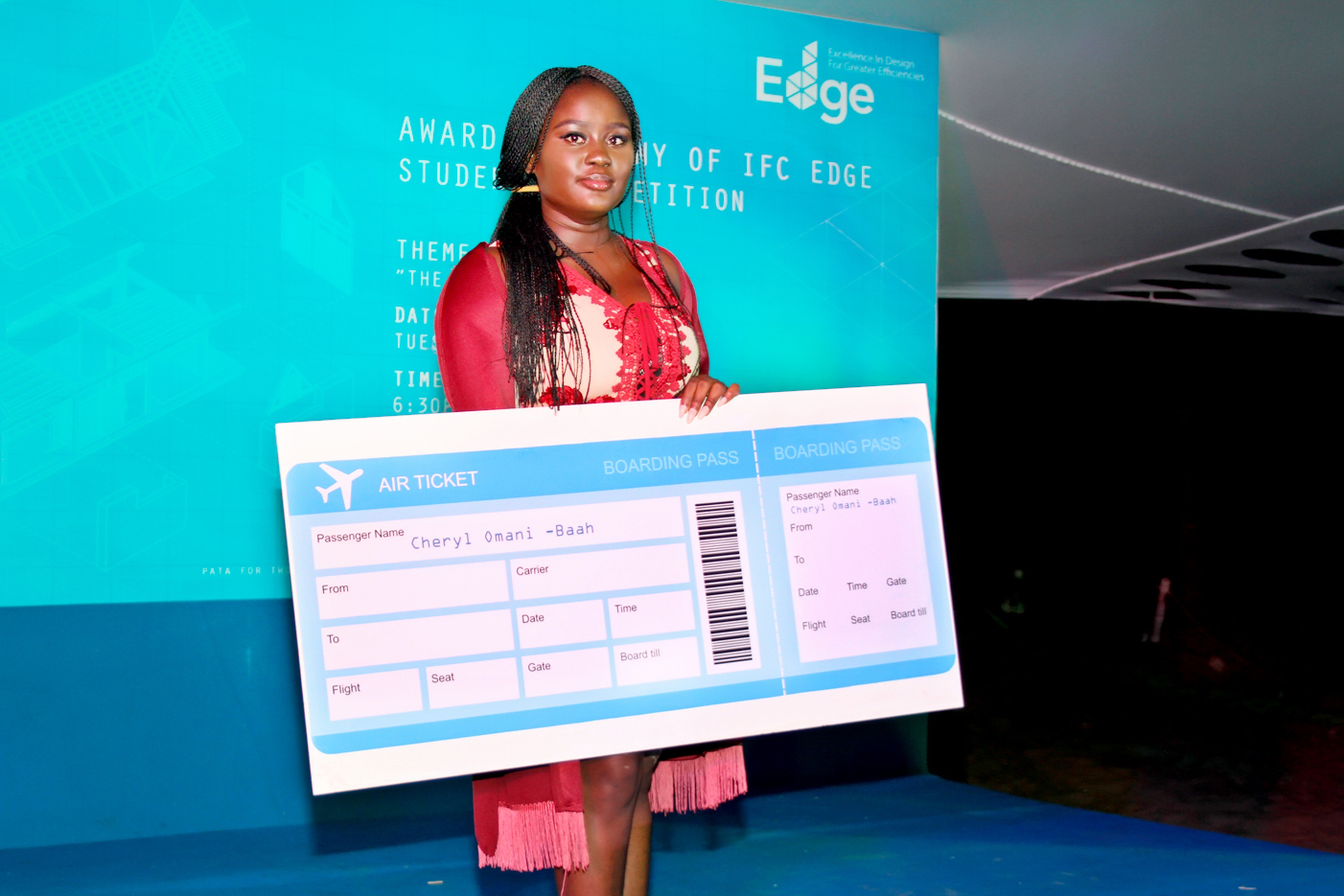 Cheryl Omani-Baah at the IFC EDGE Student Design Awards