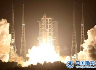 Long March-5 blasts off from Wenchang Space Launch Center in south China's Hainan province, Dec. 27, 2019. Photo from the website of China National Space Administration