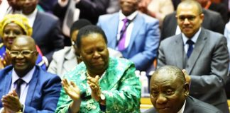 South African President Cyril Ramaphosa hailed by the National Assembly