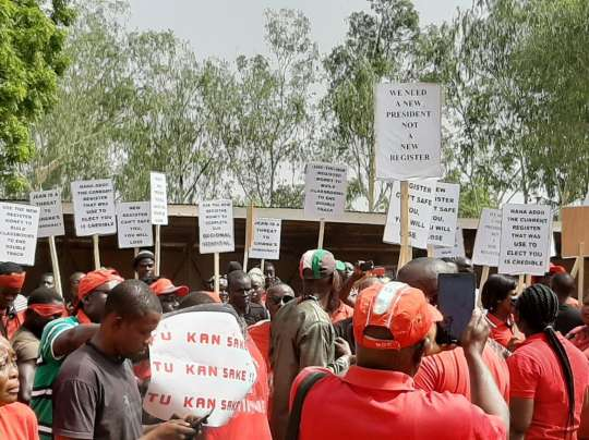 street protest over new voters' register