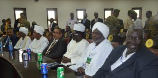 Members of the Sudanese Transitional Military Council attend a meeting in Juba, capital of South Sudan, Sept. 9, 2019. The Intergovernmental Authority on Development (IGAD) on Tuesday hailed the latest meeting of South Sudan's President Salva Kiir Mayardit and opposition group leader Riek Machar in Juba, capital of South Sudan. (Xinhua/Denis Elamu)